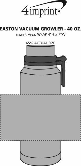 Imprint Area of Easton Vacuum Growler - 40 oz.