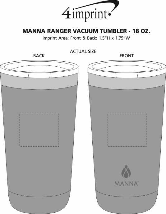 Imprint Area of Manna Ranger Vacuum Tumbler - 18 oz.