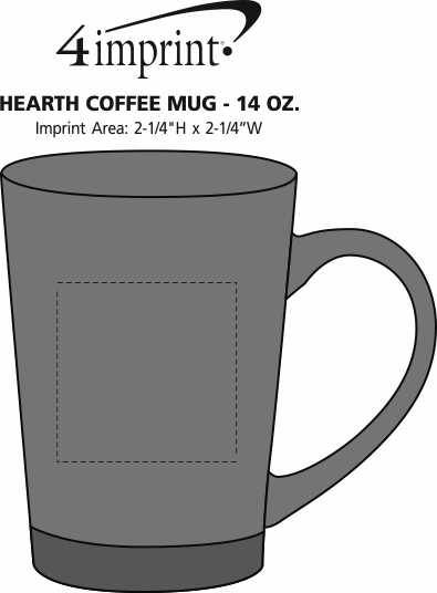 Imprint Area of Hearth Coffee Mug - 14 oz.