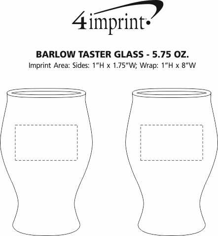 Imprint Area of Barlow Taster Glass - 5.75 oz.