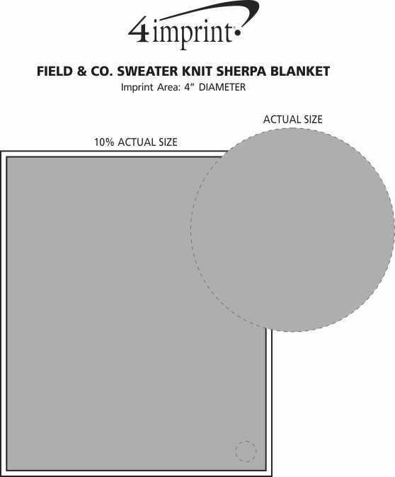 Imprint Area of Field & Co. Sweater Knit Sherpa Blanket