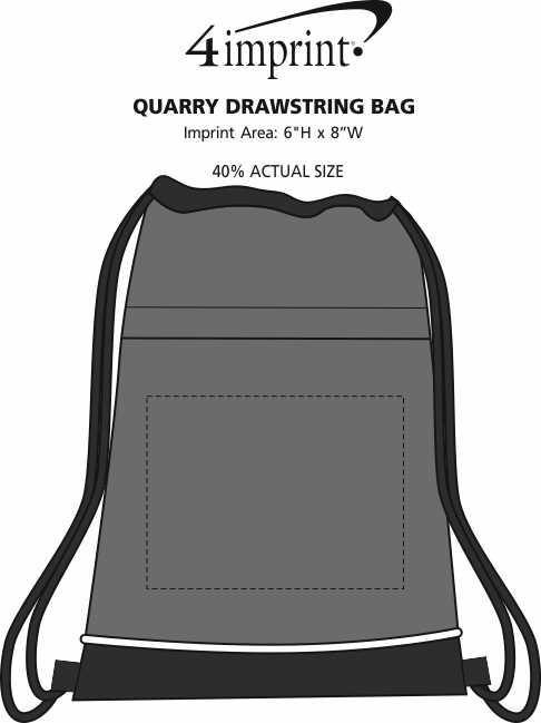 Imprint Area of Quarry Drawstring Sportpack