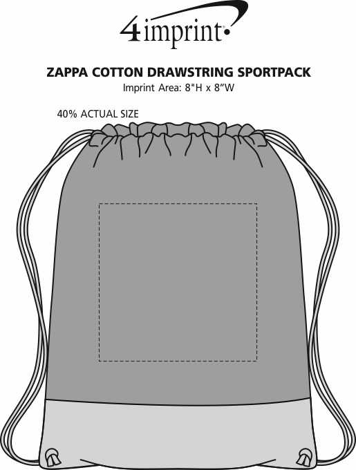 Imprint Area of Zappa Drawstring Sportpack