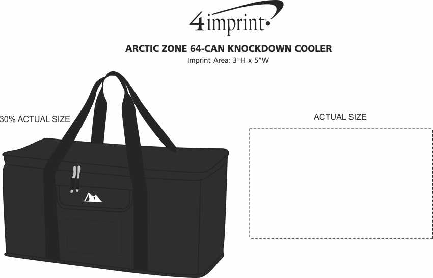 Imprint Area of Arctic Zone 64-Can Knockdown Cooler