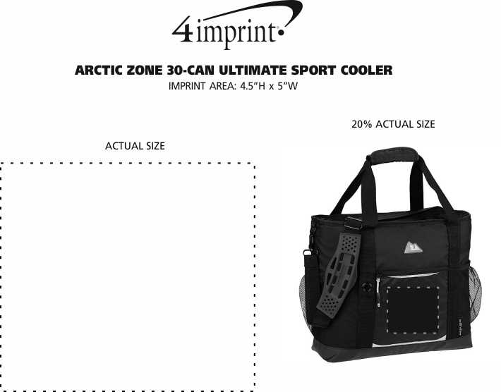 Imprint Area of Arctic Zone 30-Can Ultimate Sport Cooler