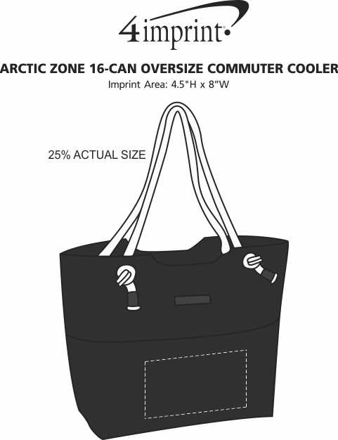 Imprint Area of Arctic Zone 16-Can Oversize Commuter Cooler