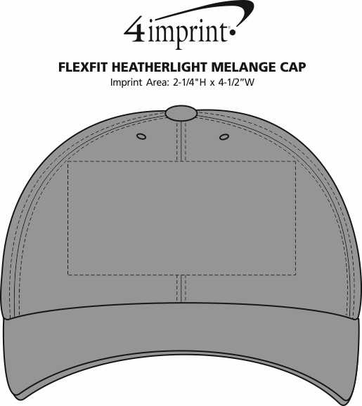 Imprint Area of Flexfit Heatherlight Melange Cap