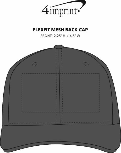 Imprint Area of Flexfit Mesh Back Cap