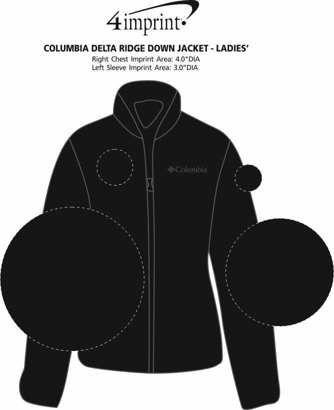 Imprint Area of Columbia Delta Ridge Down Jacket - Ladies'