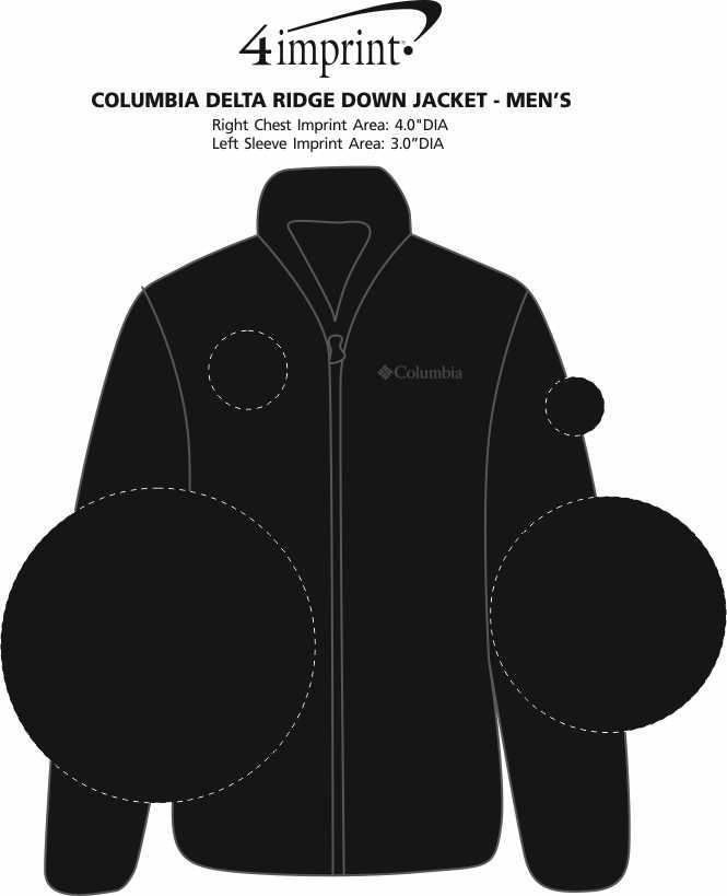 Imprint Area of Columbia Delta Ridge Down Jacket - Men's