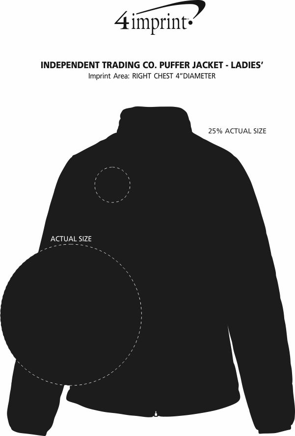 Imprint Area of Independent Trading Co. Puffer Jacket - Ladies'