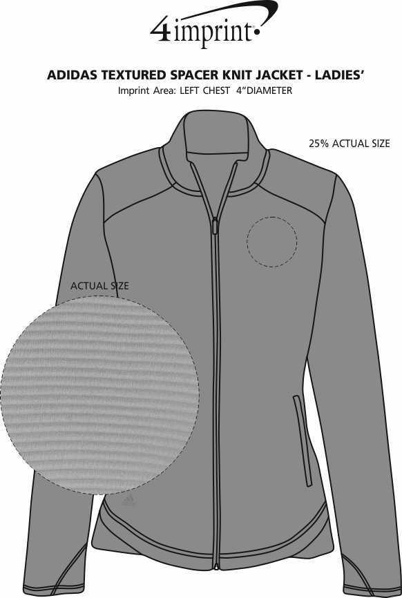 Imprint Area of adidas Textured Spacer Knit Jacket - Ladies'