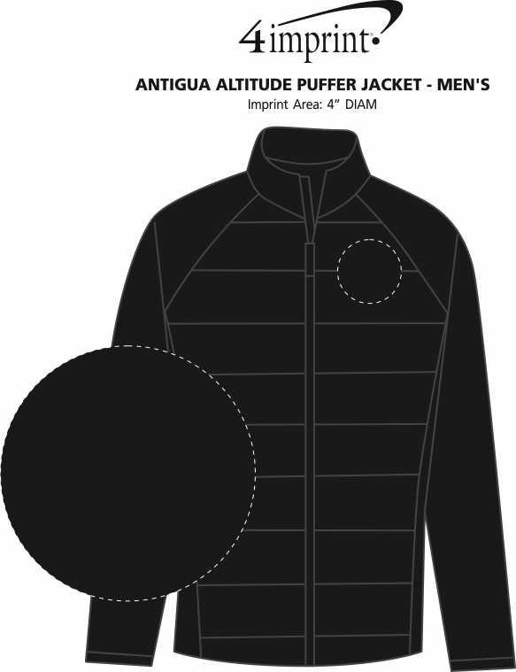 Imprint Area of Antigua Altitude Puffer Jacket - Men's