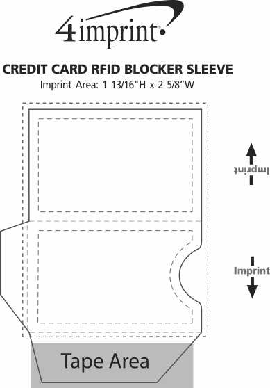 Imprint Area of Credit Card RFID Blocker Sleeve