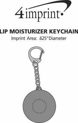 Imprint Area of Lip Moisturizer Keychain