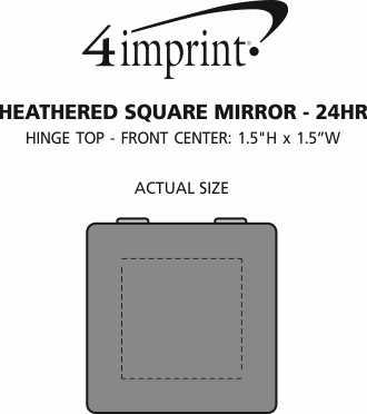 Imprint Area of Heathered Square Mirror - 24 hr