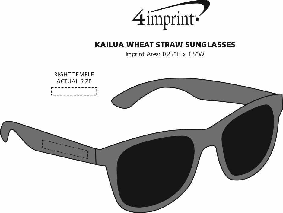 Imprint Area of Kailua Sunglasses