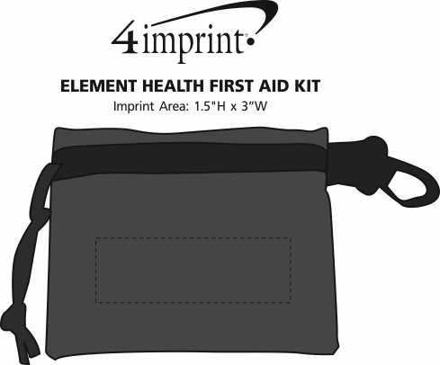 Imprint Area of Element Health First Aid Kit