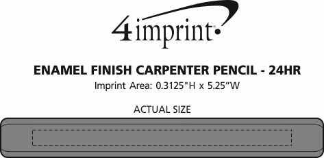 Imprint Area of Enamel Finish Carpenter Pencil - 24 hr