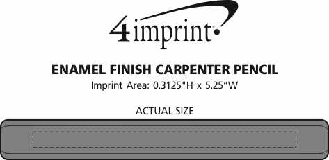 Imprint Area of Enamel Finish Carpenter Pencil