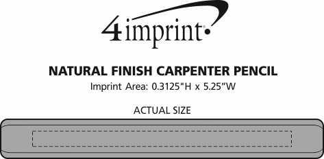 Imprint Area of Natural Finish Carpenter Pencil