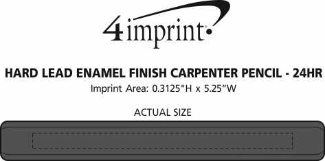 Imprint Area of Hard Lead Enamel Finish Carpenter Pencil - 24 hr
