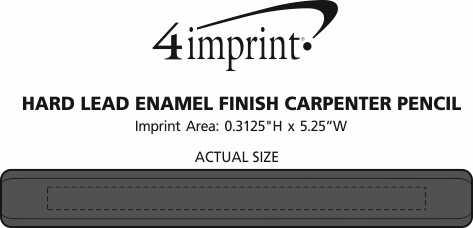Imprint Area of Hard Lead Enamel Finish Carpenter Pencil