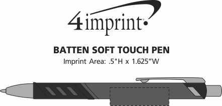 Imprint Area of Batten Soft Touch Pen