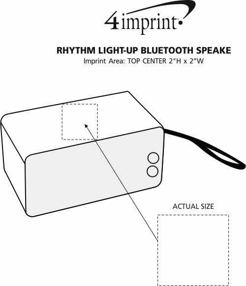 Imprint Area of Rhythm Light-Up Bluetooth Speaker