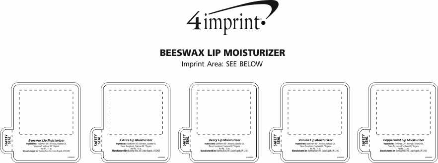 Imprint Area of Beeswax Lip Moisturizer