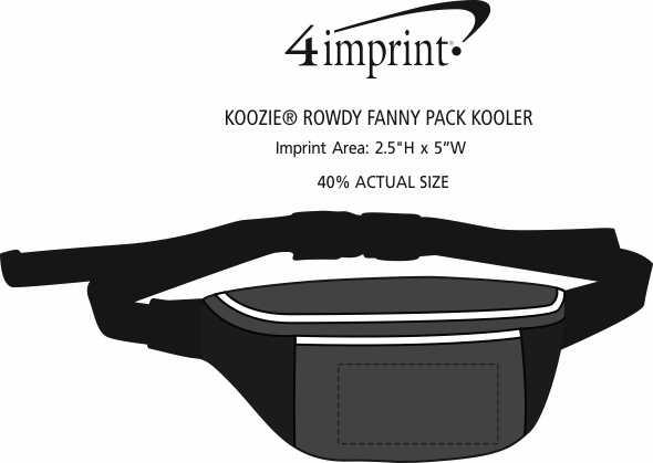 Imprint Area of Koozie® Rowdy Fanny Pack Kooler