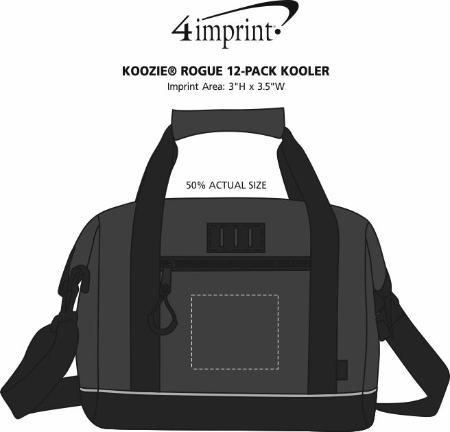 Imprint Area of Koozie® Rogue 12-Pack Kooler