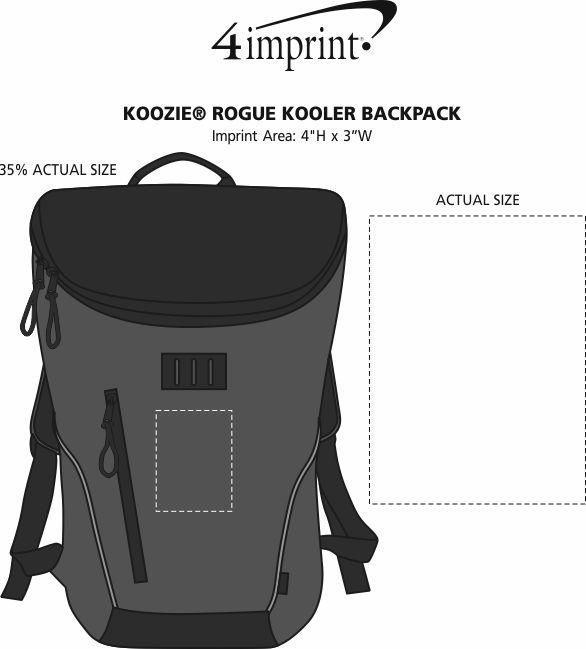 Imprint Area of Koozie® Rogue Kooler Backpack