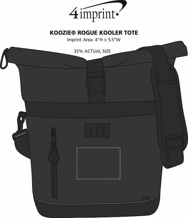 Imprint Area of Koozie® Rogue Kooler Tote