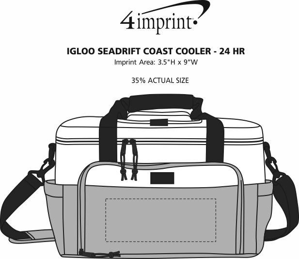 Imprint Area of Igloo Seadrift Coast Cooler - 24 hr
