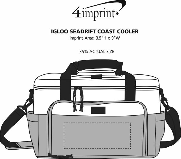 Imprint Area of Igloo Seadrift Coast Cooler