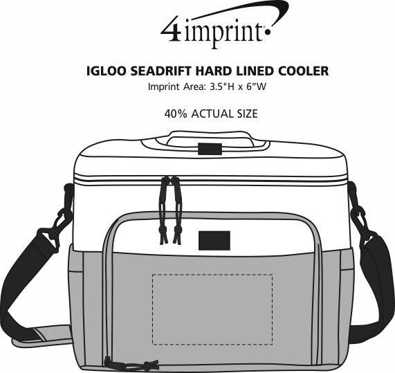 Imprint Area of Igloo Seadrift Hard Lined Cooler