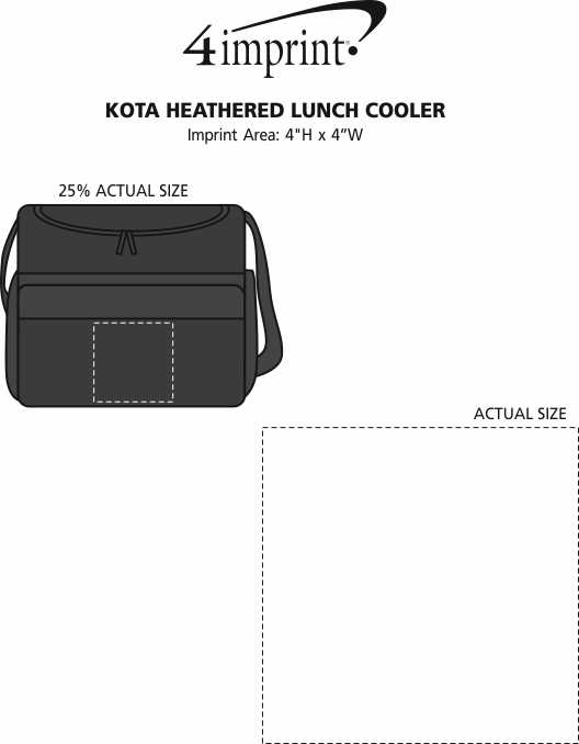Imprint Area of Kota Heathered Lunch Cooler