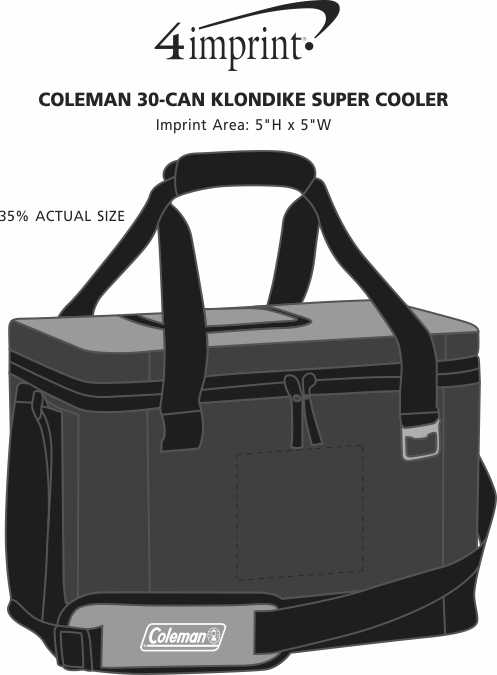 Imprint Area of Coleman 30-Can Klondike Super Cooler