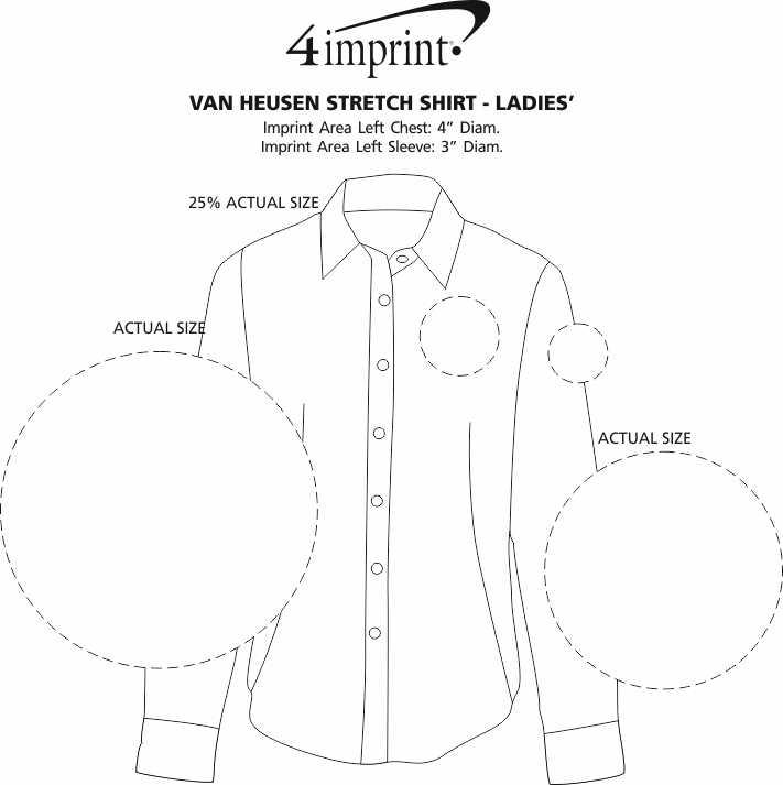 Imprint Area of Van Heusen Stretch Shirt - Ladies'