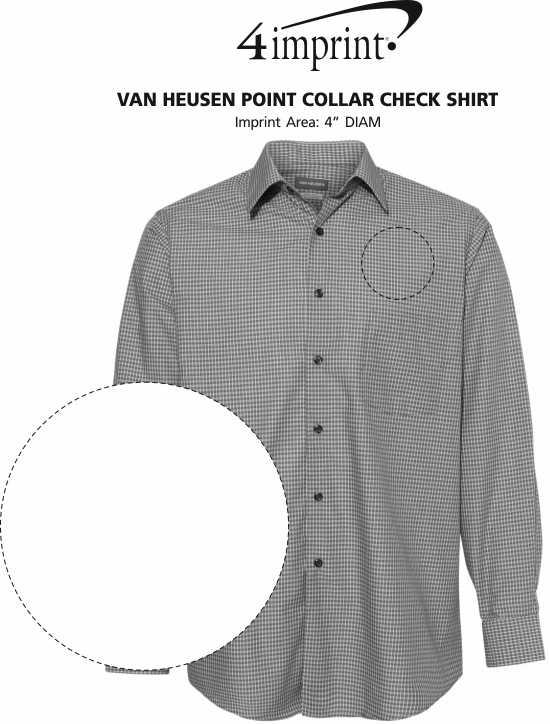 Imprint Area of Van Heusen Point Collar Check Shirt
