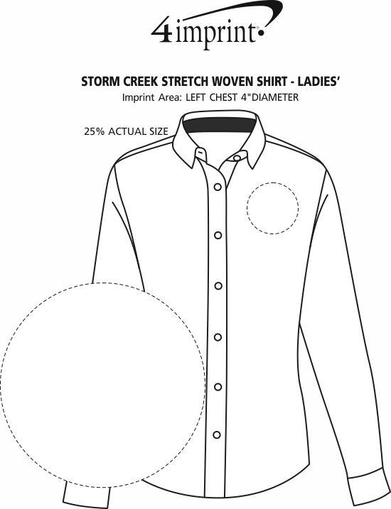 Imprint Area of Storm Creek Stretch Woven Shirt - Ladies'