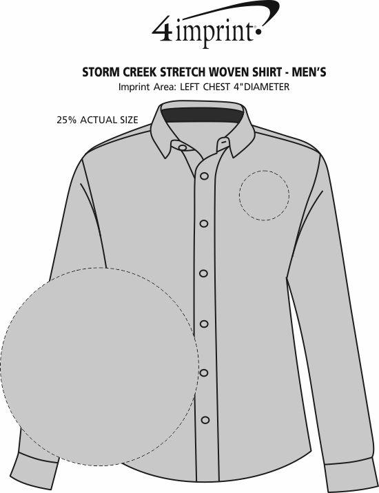 Imprint Area of Storm Creek Stretch Woven Shirt - Men's