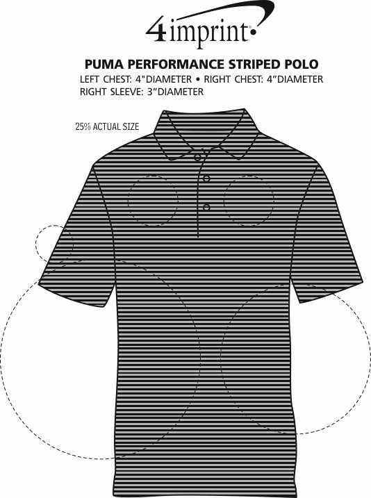 Imprint Area of PUMA Performance Striped Polo