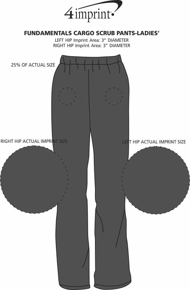 Imprint Area of Fundamentals Cargo Scrub Pants - Ladies'