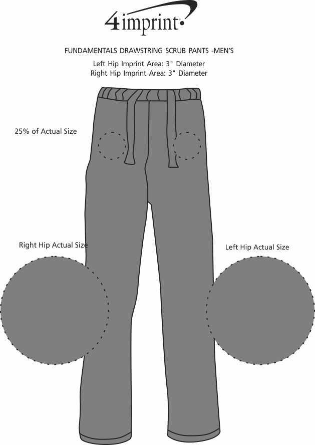 Imprint Area of Fundamentals Drawstring Scrub Pants - Men's