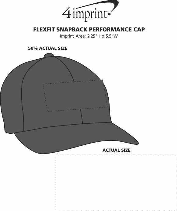 Imprint Area of Flexfit Snapback Performance Cap