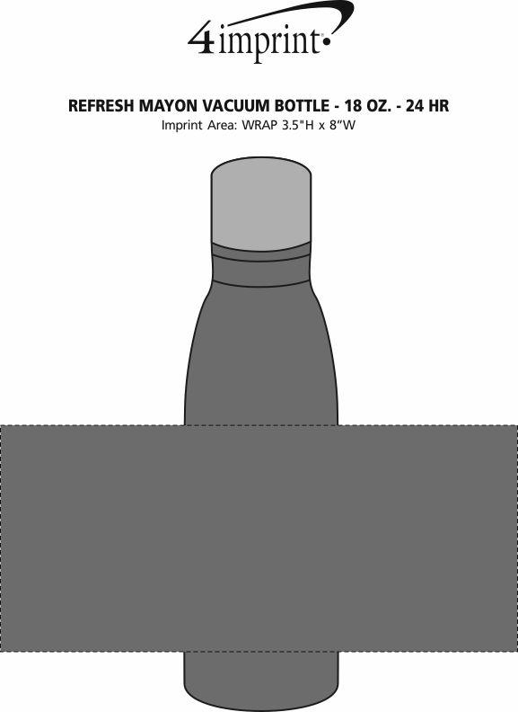 Imprint Area of Refresh Mayon Vacuum Bottle - 18 oz. - 24 hr