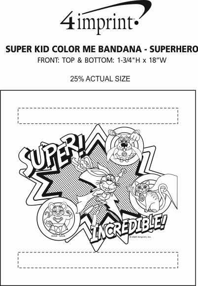 Imprint Area of Super Kid Color Me Bandana - Superhero