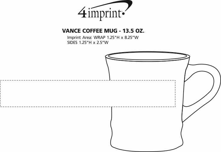 Imprint Area of Vance Coffee Mug - 13.5 oz.